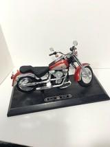 Barbie Harley Davidson Fat Boy Motorcycle 1999 Mattel With Platform - $83.68
