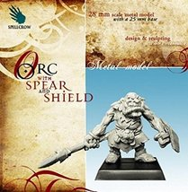 Spellcrow Game Miniatures Orc with Spear and Shield