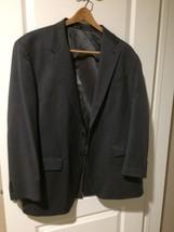 Ralph Lauren Mens Sport Coat / Suit Jacket 44R--100% WOOL--GRAY--FREE SHIP--VGC - $28.97