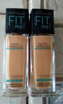 Maybelline New York FIT Me Matte Poreless Foundation 334 Warm Sun 1 fl oz (2 pk) - $19.80