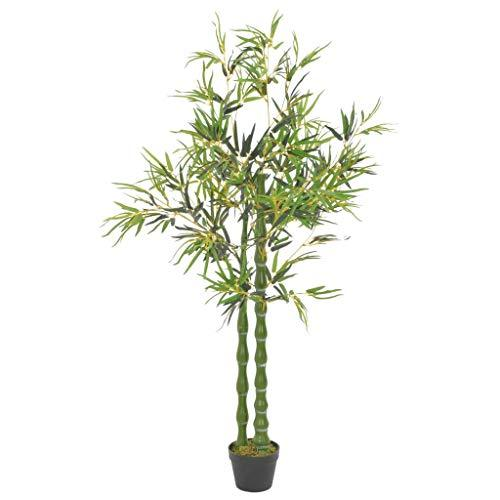 Primary image for vidaXL Artificial Plants Bamboo, Lifelike Plants Tree, Modern Black Plastic Pots