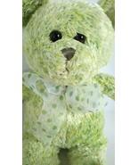 """Fiesta Teddy Bear Soft Light Green Plush Stuffed Animal Doll Toy 14"""" w/ ... - $7.86"""