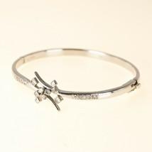 9k white GOLD Diamond Bangle Bracelet UK BHS - $894.54