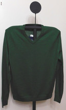 Club Room Men's Isle of Pine Green Merino Blend V-Neck Classic Fit Sweat... - $17.95