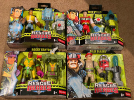 Fisher Price Rescue Heroes Action Figures Lot Of 5 Carlos, Rocky, Reed, ... - $39.59