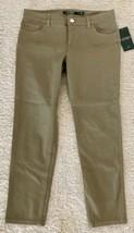 "NWT Ralph Lauren Cobra Tan Cropped Length Cotton Casual Pants 27"" Inseam 4 - $24.74"