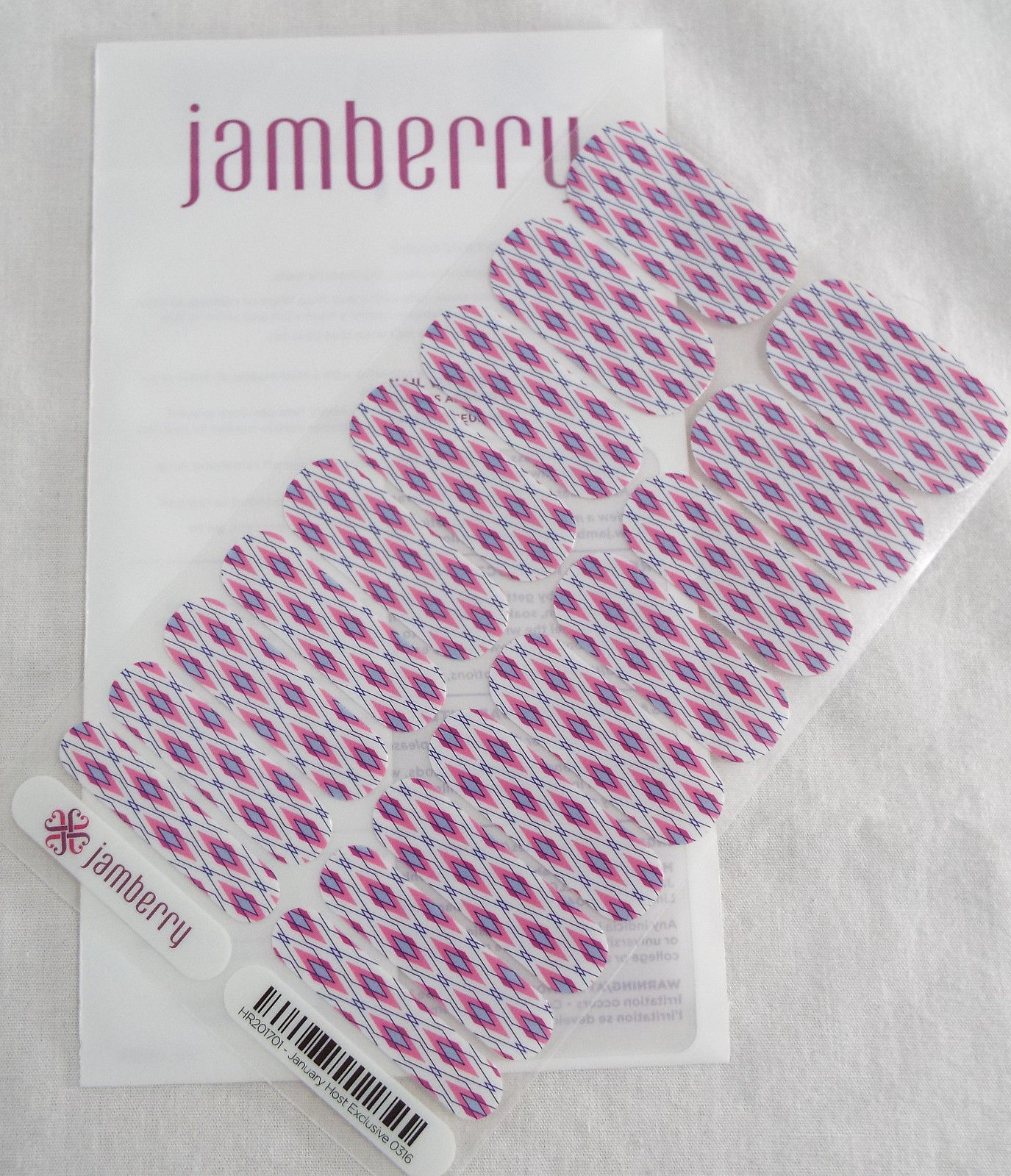 Primary image for Jamberry January 2017 Host Exclusive 0316 HR201701  (Full Sheet) Nail Wrap