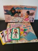 Vintage Let's Go Shopping (1990) Pressman Board Game  - £23.27 GBP