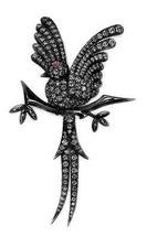 Victorian 3.81ct Rose Cut Diamond Ruby Women's Wedding Brooch Christmas Season - $605.55
