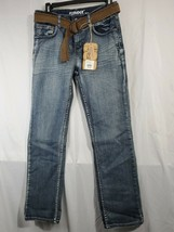 NWT Flypaper Boys 16 med Wash straight stretch Adjustable Waist Jeans w ... - $29.70