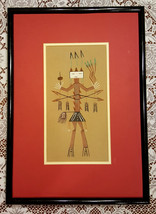 "Vintage Indian Sand Painting Framed 21"" x 15"" - $39.55"