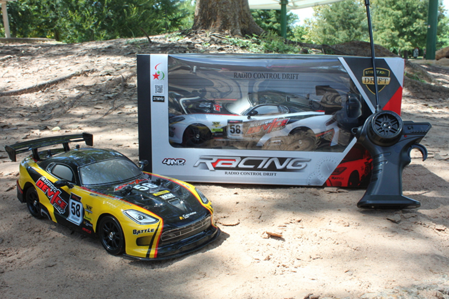 Inspired 1:14 Super-Fast Racing R/C 4WD Street King Drift Car