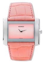 BRAND NEW MOVADO 0605296 ELIRO PINK ALLIGATOR STRAP SILVER CASE WOMEN'S ... - $296.99