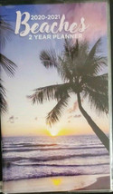 """2020-2021 2-Year Pocket Planner """"Beaches"""" For School, Work, Appointment - $2.00"""