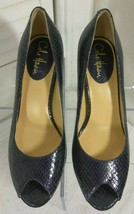 ColeHaan,Women,8B,Purplish,Snake Print,Leather,Stiletto,Platform,High He... - $34.64