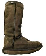 EMU Brown Suede Hi Australian Merino Wool Winter Tall Boots Womens 7 EUR 38 - $36.96