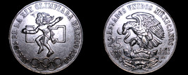 1968 Mexican 25 Peso World Silver Coin - Mexico Olympics - $34.99