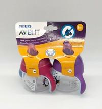 Philips Avent Premium Spout 2 Penguin Cups 7 oz Each, Pink/Purple, Age 6M+ - $11.87