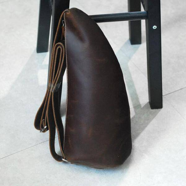 On Sale, Horse Leather Men Chest Pack, Handmade Chest Bag, Messenger Bag image 6