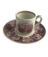 Wedgwood England Rosalie DAR Cup Saucer Demitasse Daughters American Revolution - $46.58