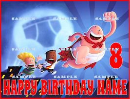 CAPTAIN UNDERPANTS  : Personalized Edible Image Cake Topper - $9.78