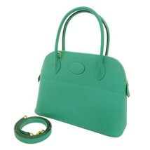 HERMES Bolide 27 Veau Epsom Vert Verone Handbag 2Way Shoulder Bag #D France - $8,143.90
