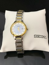 Seiko Ladies SUT318 Solar  Diamond Accent Two Tone Watch w/ Mother of Pe... - $74.98 CAD