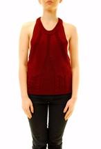 One Teaspoon Women's Frontier Cable Knit Top Bordeaux Size S RRP $116 BC... - $64.93