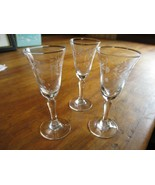 Vintage Pine Cone Pattern Etched Quality Crystal Cordial Glasses - $18.81