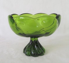 Viking Epic Twist, Footed Compote, Avocado, 1523, c. 1965 - $22.00