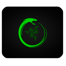 Mouse Pad Razer Logo In Special Green Dragon Design For Popular Game Ani... - $6.00