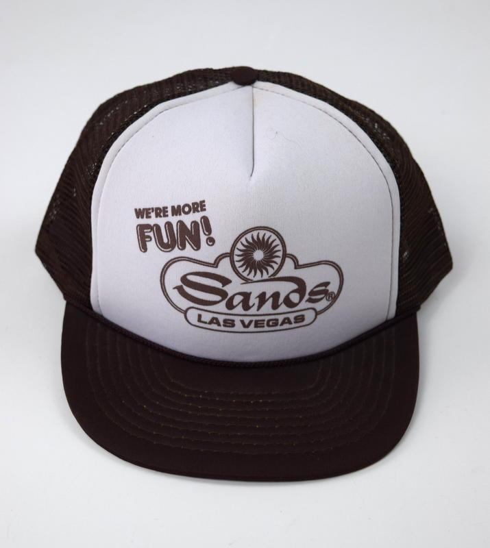 7d10d05336e209 Vintage 80s Brown Mesh Casino SANDS LAS and 50 similar items