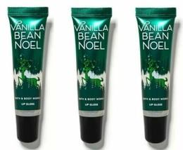 Bath & Body Works Vanilla B EAN Noel Lip Gloss ~ New Sealed ~ 3 Pack - $17.82