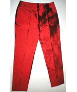 New NWT 8 Designer Womens Italy Dolce & Gabbana Red Silk Pants Trouser 4... - $958.00