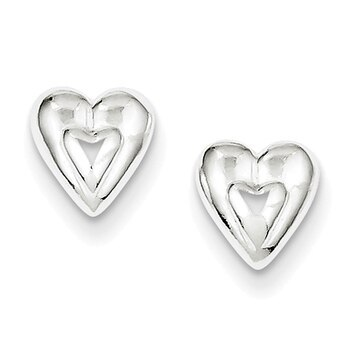 Primary image for Lex & Lu Sterling Silver Heart Earring