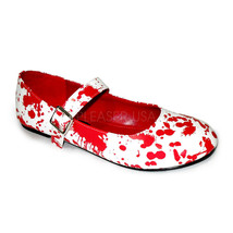 FUNTASMA Bloody-16 Series Costume Shoe - White Patent-Red - $30.95