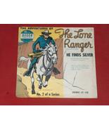 1951 The Lone Ranger Él Hallazgos Plateado #2 Niños 45 Record Recambio M... - $11.81