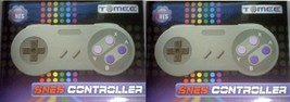 TWO 2 NEW CONTROLLERS FOR 16 BIT SNES SUPER NINTENDO & FC TWIN SYSTEM IN... - $5.95