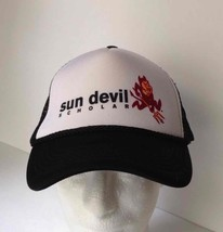 Arizona State Sun Devil Scholar Adjustable Strapback Mesh Truck Hat Nwot Ncaa - $12.32