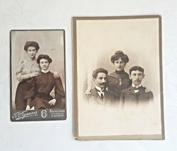 Two photographs of a Jewish family early 20th century - $49.50