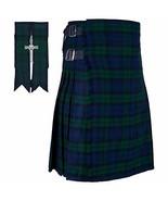 KILTSHOP- Scottish Tartan Black Watch Kilt with Gift of Flashes & Kilt P... - $51.60
