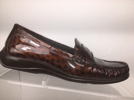 Cole Haan Air Womens Penny Loafers Size 7 B Animal Print Patent Leather Slip On - $39.00