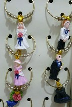 Boston Warehouse Wine Charms Wedding Theme Set Of 12 NIB - $14.84