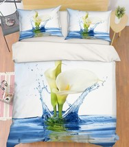 3D Lake Calla Lily 246 Bed Pillowcases Quilt Duvet Single Queen King US Summer - $102.84+