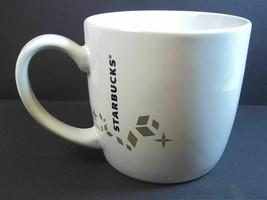 Starbucks coffee mug Holiday Collection 2013 siren logo gold snowflakes ... - $13.03