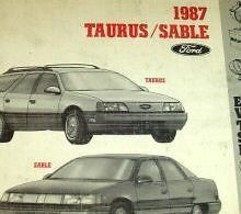 1987 FORD TAURUS & MERCURY SABLE Electrical Wiring Diagrams Manual EWD EVTM - $3.52