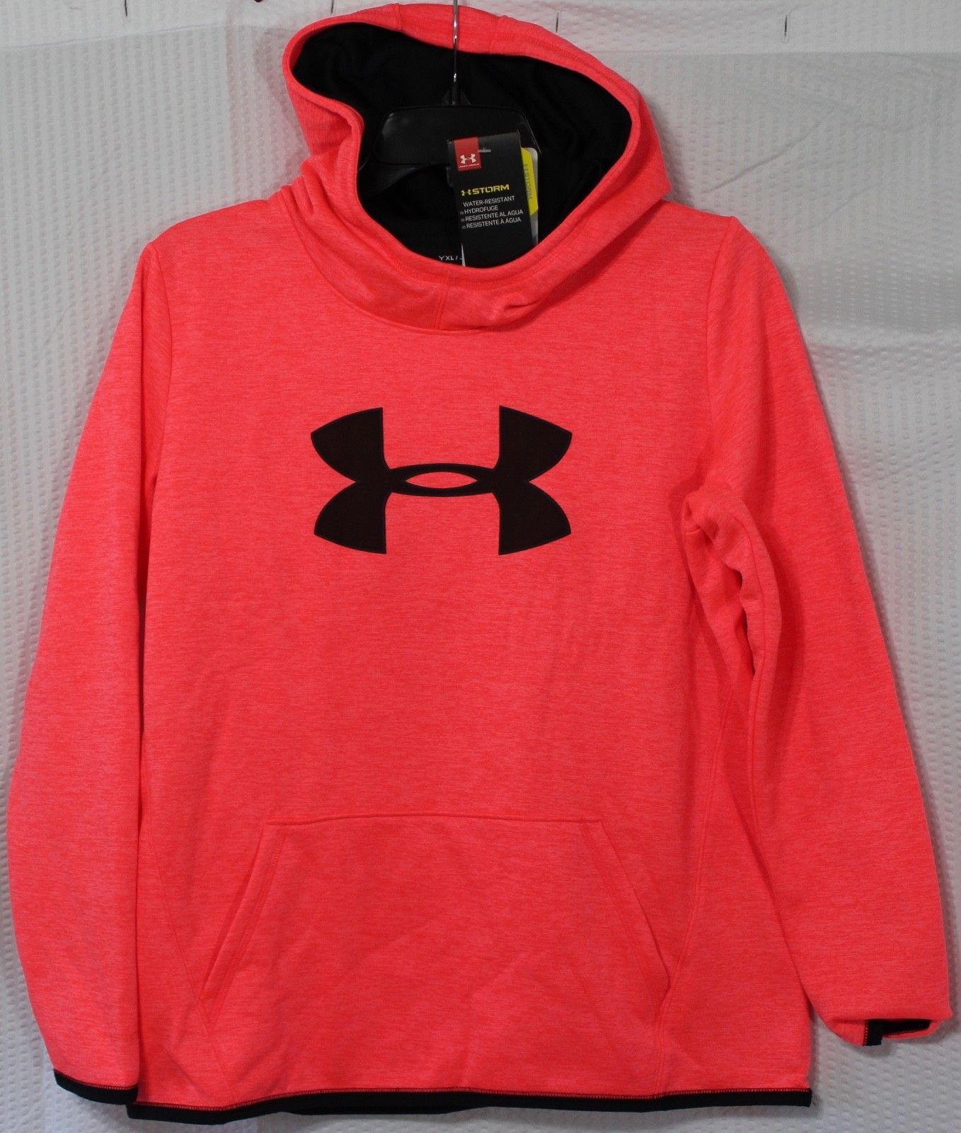 SIZE SMALL NIKE THERMA-FIT GIRLS TRAINING HOODIE 860094-010 BLACK//BLUE