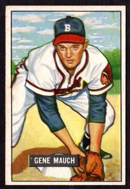 Primary image for 1951 BOWMAN #312 GENE MAUCH (RC) BASEBALL CARD- BOSTON BRAVES