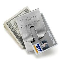 Personalized Harrison Clever Money Clip Wallet - $26.18