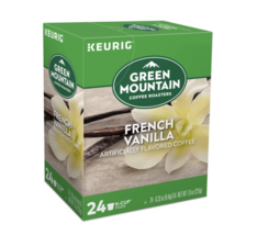 NEW Green Mountain Coffee Keurig K-Cup Pods French Vanilla Light Roast 24pk 2022 - $16.05